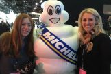 Michelin Man with Helena and Judie