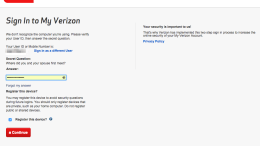GearDiary Verizon Account Sign-In #Fail