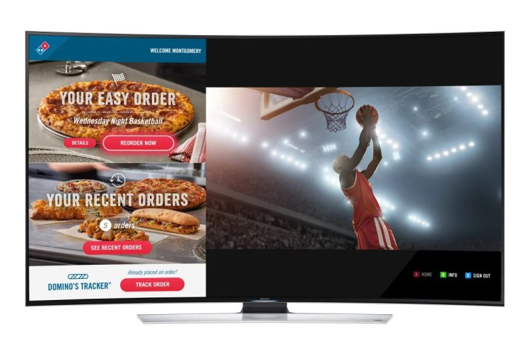 Domino's Introduces Ordering from Your Samsung Smart TV