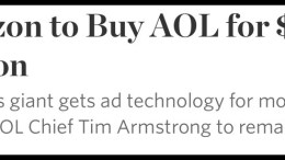 Verizon Communications Inc. Buying AOL Inc for 4.4 Billion in Cash
