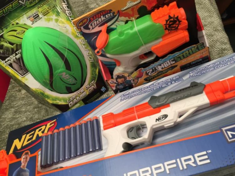 how to turn on nerf firevision ignite football