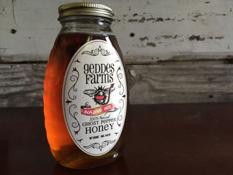Geddes Farms Ghost Pepper Honey/Images by David Goodspeed