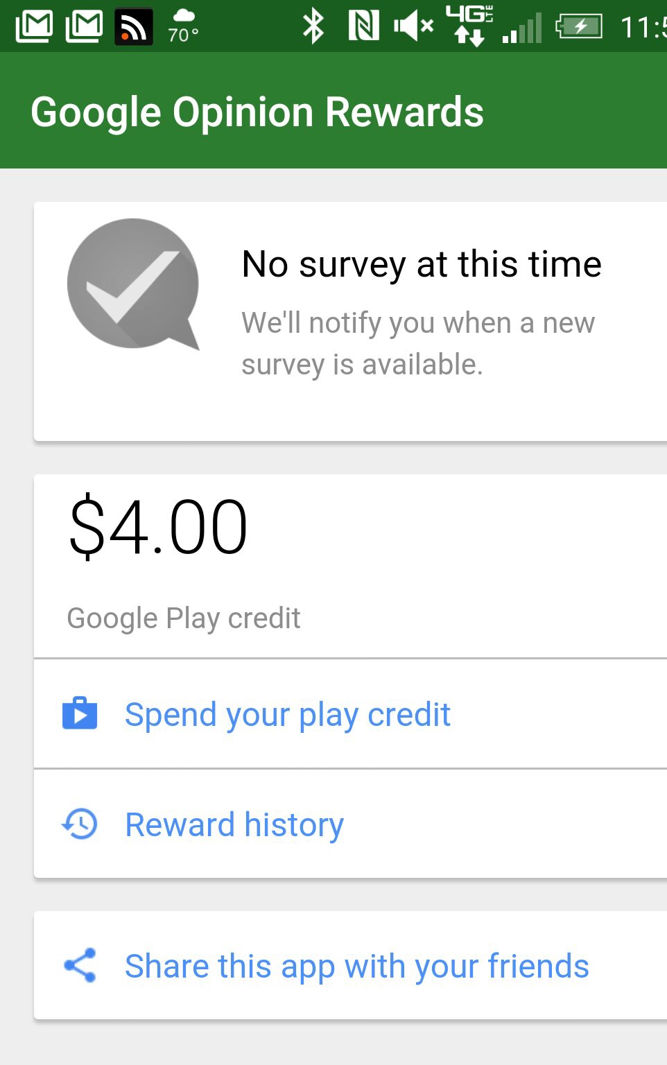 how often does google opinion rewards send surveys google opinion rewards lets you get paid for allowing 1471