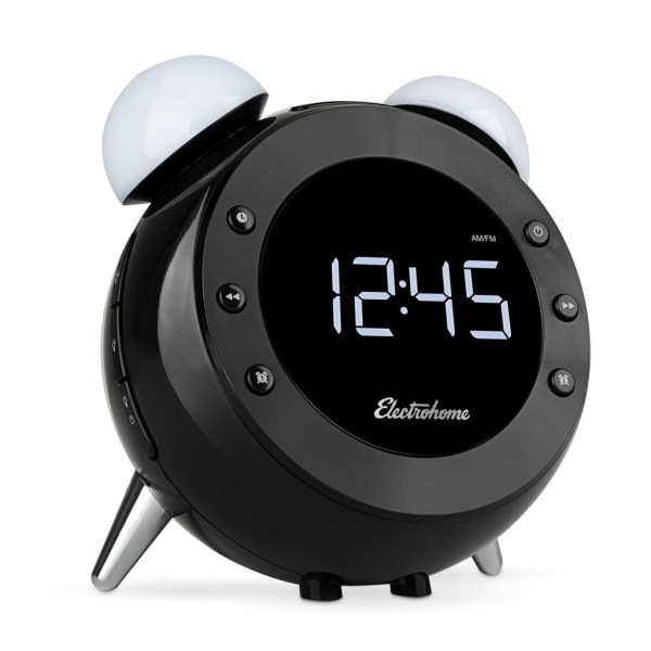 Electrohome Retro Alarm Clock Radio Shines Night