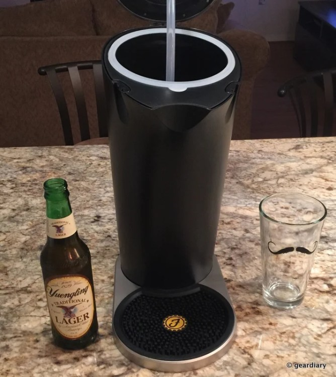 GearDiary Get the Perfect Pour at Home with the Fizzics Beer System!