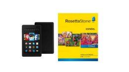 Amazon Deal: Rosetta Stone 1-5 (Download) Plus Kindle Fire HD 6 - $ 198.99