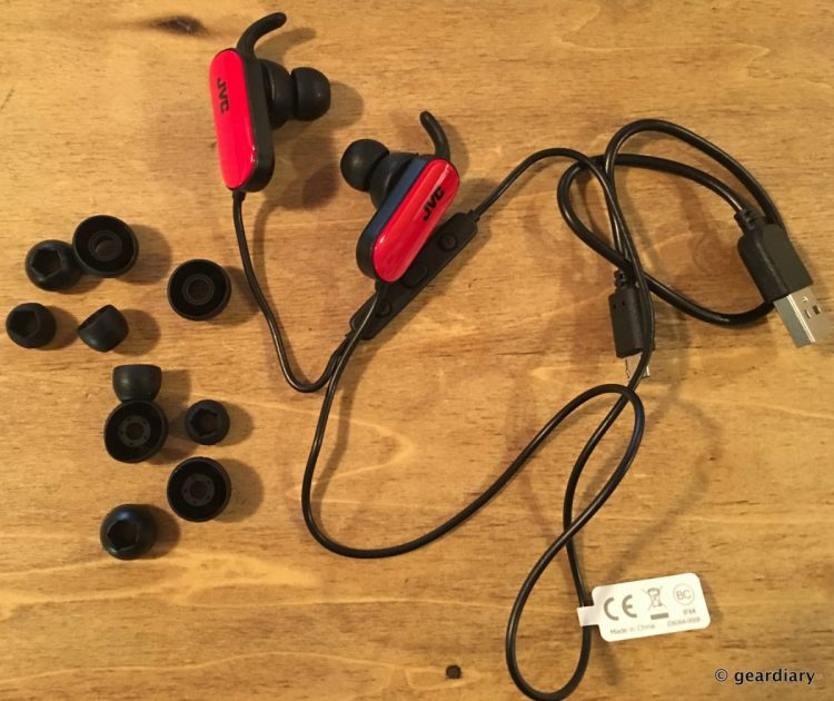 GearDiary JVC HA-EBT5 In-Ear Headphones: Wireless, Splashproof and Perfect for Active Moms