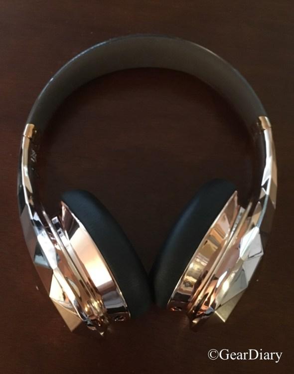 #ad Diamond Tears On-Ear Headphones (Rose Gold) via Apollo Box