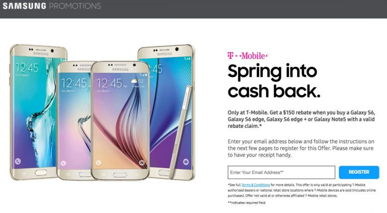 GearDiary T-Mobile Offers $200 off Samsung Galaxy Note 5, $150 off Galaxy S6 edge, Galaxy S6 edge+ or Galaxy S6 edge
