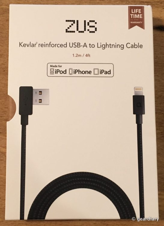 The Nonda Zus Kevlar Reinforced Usb A To Lightning Cable