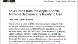 GearDiary Apple eBook Antitrust Settlement Credits Begin to Appear