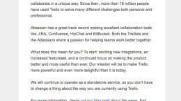 GearDiary Trello Announces Acquisition by Atlassian