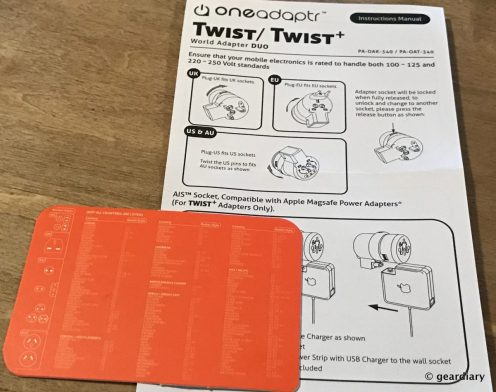 22-Oneadaptr Twist+ World Adapter DUO-021