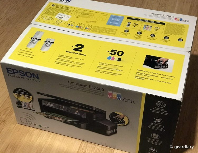 Epson Expression ET-3600 EcoTank All-in-One Supertank Printer Review