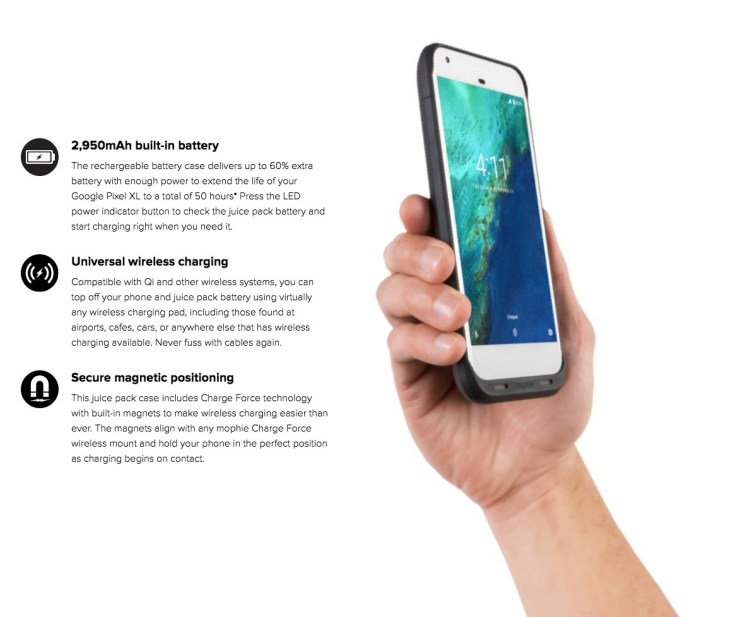 Mophie Releases Juice Pack for Google Pixel XL