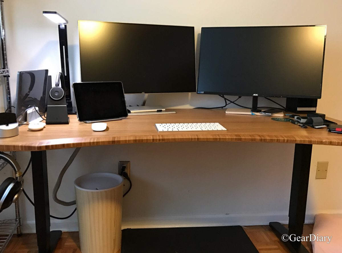 UPLIFT Stand Up Desk with 1 Thick Bamboo Top Review GearDiary
