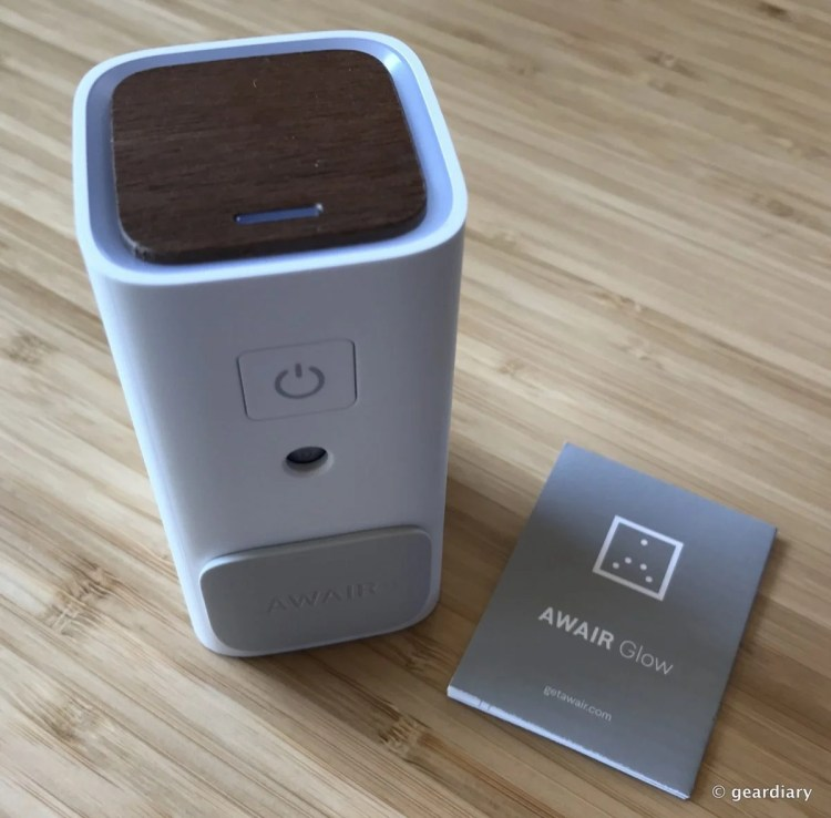 GearDiary Awair Glow: Monitor and manage the Air in Your Home or Office from Anywhere