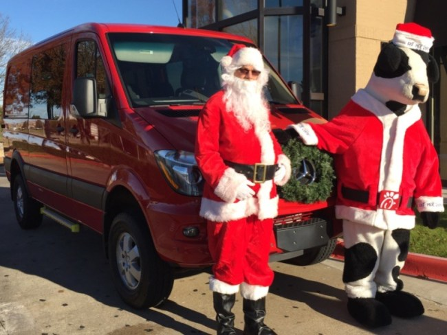 Mercedes-Benz Sprinter Van Beats Reindeer and a Sleigh Any Day