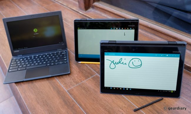 GearDiary You Can Use a Pencil to Write on the Lenovo 300e Chromebook's Display