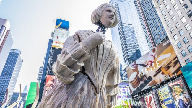 GearDiary There's a Massive Art Installation in Times Square Meant to Wake Us up About Climate Change