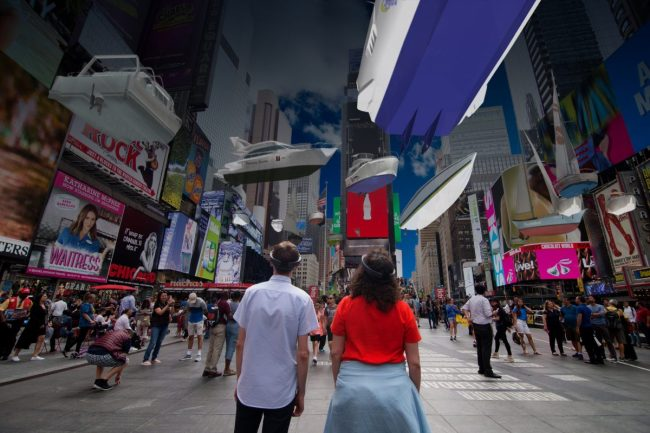 There's a Massive Art Installation in Times Square Meant to Wake Us up About Climate Change