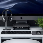 The Satechi Type-C Aluminum Monitor Stand Hub for iMac Gives Your Mac a Lift