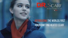 Charge Your Scarf and Your Negative Ions While Emptying Your Wallet with Dr. Scarf