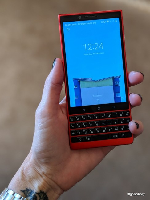 The BlackBerry KEY2 Red Edition Looks Sporty