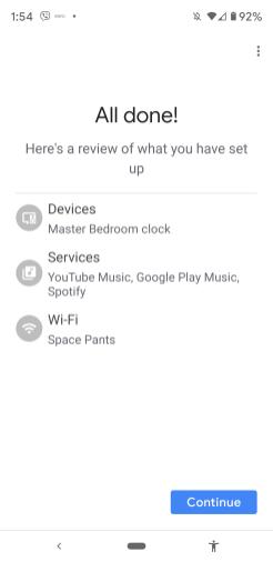 Google Home Set-Up Lenovo Smart Clock-012