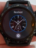 Resilient watch face also offers second time-zone customization