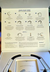 A quick-start guide is printed on the box's inner lid.