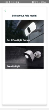 "Select ""Pro 3 Floodlight Cameras."""