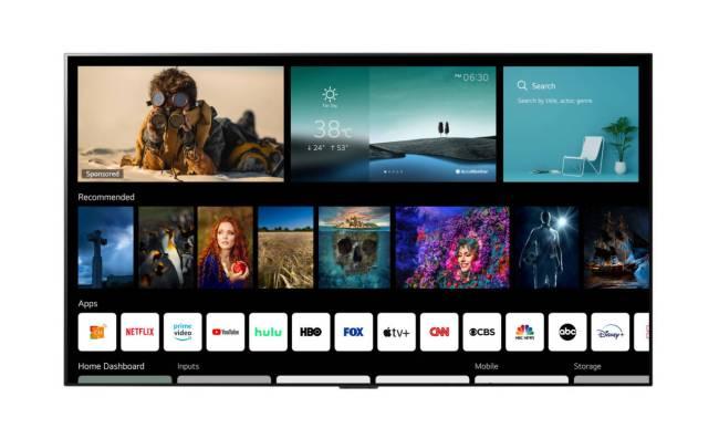 LG webOS 6.0 Home Screen