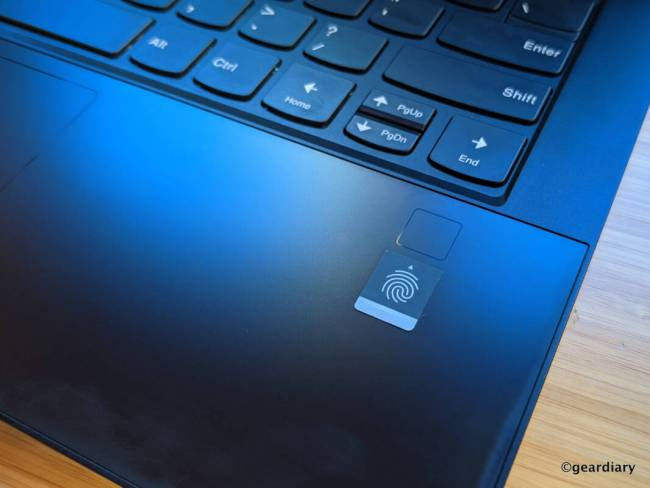 Lenovo Yoga 9i fingerprint sensor