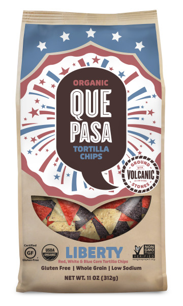 Que Pasa Liberty Tortilla Chips for your July 4th party