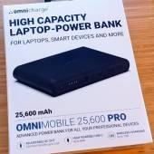 OmniCharge Omni Mobile 25600 packaging
