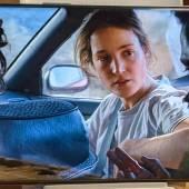 Realme GT Explorer Master Edition display showing a Netflix movie still