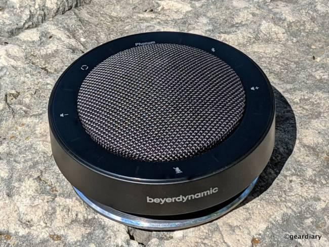 Front of the Beyerdynamic PHONUM Wireless Bluetooth Speakerphone