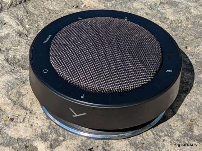 Side of the Beyerdynamic PHONUM Wireless Bluetooth Speakerphone