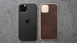 Go Minimalist with the Nomad Leather Skin and Screen Protector for the iPhone 12 Series
