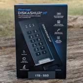 iStorage diskAshur M2 retail box front.