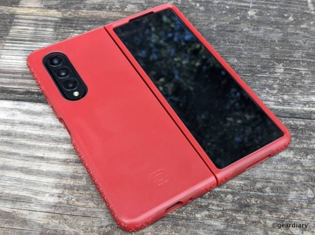 Full back-view of the Incipio Grip for Samsung Galaxy Z Fold3