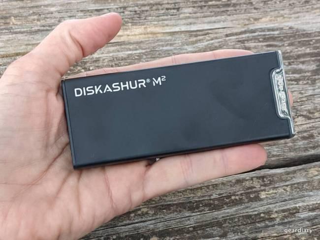 iStorage diskAshur M2 in its sleeve
