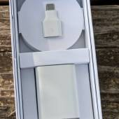 Google Pixel 5a charger and cable with handy USB Type-A to Type-C dongle.