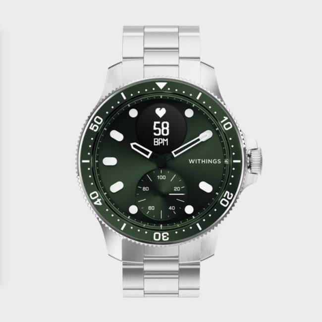 The Withings ScanWatch Horizon in green.
