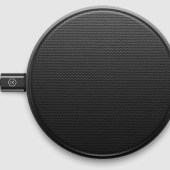 Master & Dynamic MC100 Wireless Charge Pad in Gunmetal Aluminum with Black Coated Canvas