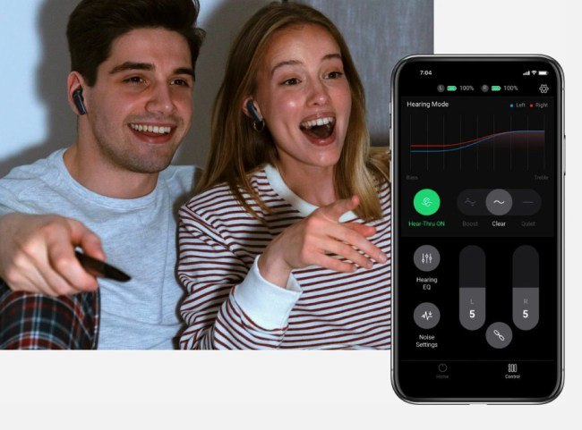 Olive Pro Audio Enhancing Earbuds app.