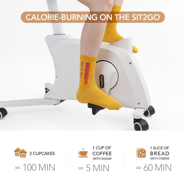 Calorie burning graph for the Flexispot Sit2Go 2-in-1 Fitness Chair