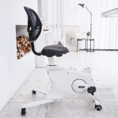 The Flexispot Sit2Go 2-in-1 Fitness Chair in white.