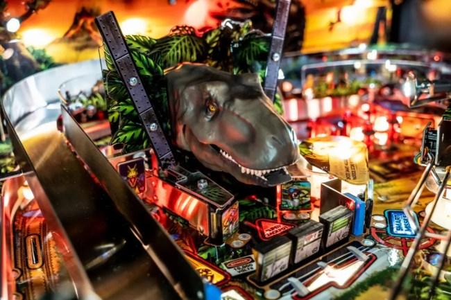 Stern Jurassic Park Pinball detail.